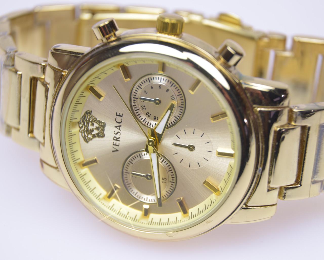 Женские наручные часы VERSACE Gold кварц (реплика)