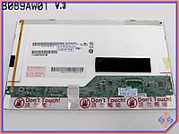 """Матрица для нетбука  8.9"""" AUO B089AW01 V.3 (1024*600, 40pin Mini справа, LED Normal, Глянцевая)"""