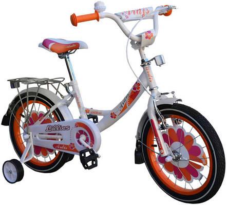 """Детский велосипед ARDIS LILLIES BMX 12""""  Белый/оранжевый"""