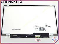 """Матрица для ноутбука 14.0"""" SAMSUNG LTN140KT12 LED SLIM ( Ушки сверху снизу, Глянцевая,  1600*900, 40pin справа внизу ). Экран для ноутбука с"""