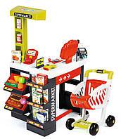 Супермаркет с тележкой, электронной кассой и сканером Smoby (350210), фото 1