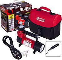 Компрессор автомобильный 14 Amp, 30 л, фонарь, прикуриватель, фонарь Elephant КА-12175 + переходник