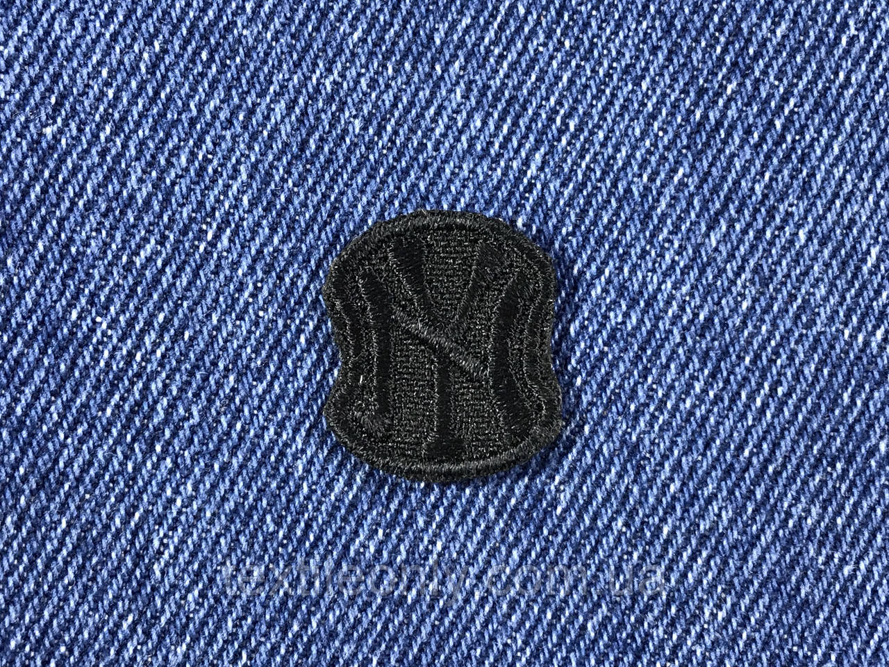 Нашивка New York s  цвет черный 20x23 мм
