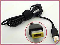 DC кабель от блока питания к ноутбуку Lenovo (USB+Pin Прямоугольный). 1.2m, 45W - 90W Кабель с ферритовым фильтром и застежкой.