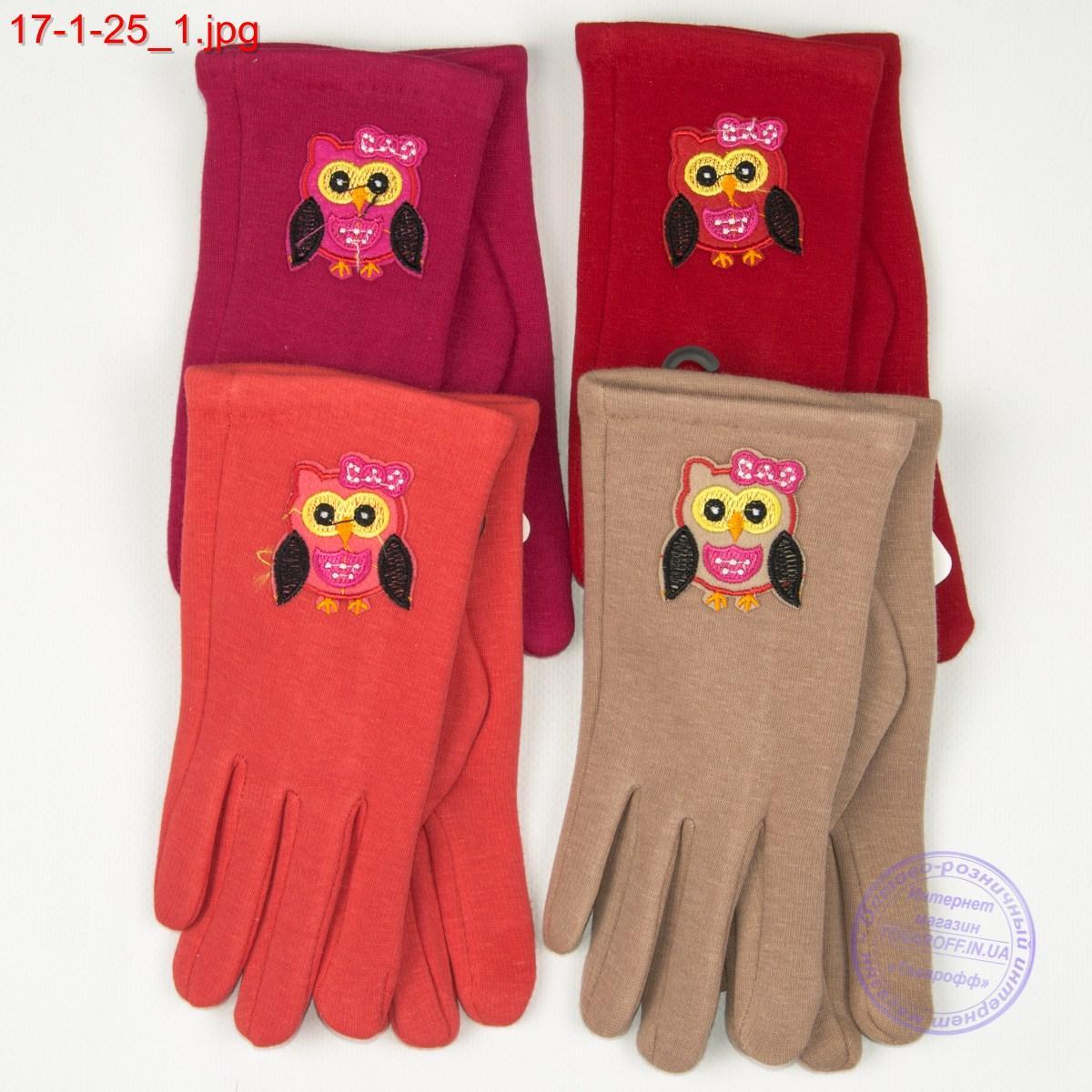 Оптом подростковые перчатки для сенсорных телефонов с совой - №17-1-25