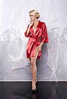 Халат сатиновый Dkaren 90 DK красный женское белье