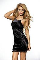 Пеньюар Petticoats Kasandra black Dkaren женская домашняя одежда