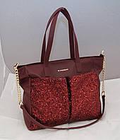Женская сумка Givenchy с блестками, цвет бордовый Живанши ( код: IBG083R )