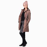 Зимняя Слингокуртка Капучино (Размер L 44 ) 3 в 1 Куртка Вставка для беременных Cлингокомплект L & C Пальто, фото 1