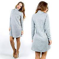 Короткое женское платье из ангоры 90см 42-46р в ассортименте