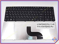 Клавиатура Acer eMachines E530 (RU Black) черная матовая.