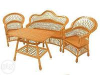"""Комплект мебели из лозы """"Простой"""""""