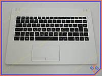 Клавиатура для ноутбука ASUS X450 ( RU Black, Белая рамка). Оригинальная клавиатура. Русская раскладка. Цвет Черный