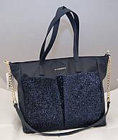 Женская сумка Givenchy с блестками, цвет синий Живанши
