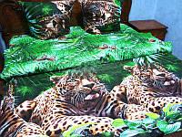 Комплект постельного белья полуторный леопарды,бязь люкс.
