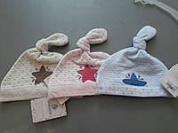 Стильная шапочка для новорожденных девочки / мальчика 41