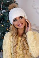Зимняя женская шапка «Кливия» Белый