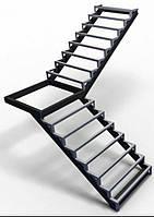 Лестницы. Каркас лестницы под обшивку с поворотом 90*