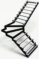 Лестницы. Каркас лестницы под обшивку с поворотом 90*, фото 1