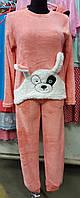 Пижама махровая зачик
