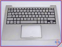 Клавиатура для ноутбука Asus UX21E ( RU Silver в комплекте с крышкой ) 13GN931AM050-1. Оригинальная клавиатура. Русская раскладка.