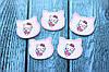 "Кабошон ""Китти-ангелочек "" розового цвета 3 х 2,5 см, 25 шт/уп. оптом"