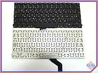 """Клавиатура для ноутбука APPLE Macbook Pro A1502 (2012) Retina 13"""" RU BLACK (Вертикальный Enter). Оригинальная новая. Цвет Черный."""