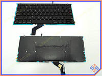 """Клавиатура для ноутбука APPLE Macbook PRO 13.3"""" Retina A1425 (2012) (US BLACK) с подсветкой клавиш. Оригинальная новая. Цвет Черный."""