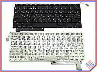 Клавиатура для ноутбука APPLE Macbook Pro A1286 ( RU BLACK с подсветкой клавиш, горизонтальный Enter! ). Оригинальная клавиатура Русская раскладка.