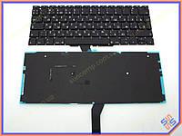 """Клавиатура для ноутбука APPLE Macbook Air A1370, A1465 (MC505, MC506) 11.6"""" (RU BLACK с подсветкой, Вертикальный Enter). Оригинальная новая."""