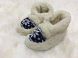 Тапки женские с задником на резиновой подошве, фото 5
