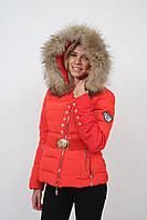 Пуховик куртка  красный