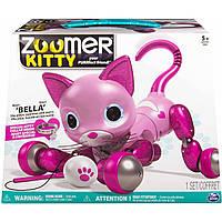 Интерактивная кошка Зумер Китти Розовая Бэлла, Zoomer Kitty Pink Bella With Kitty Collar