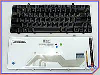 Клавиатура для ноутбука DELL Alienware M11x R2 ( RU Black Backlit) V109002DS1 PK130CW1A03. Оригинальная клавиатура. Русская раскладка. Цвет Черный.