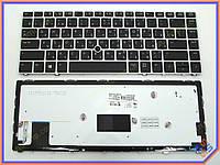 Клавиатура HP EliteBook Folio 9480M series ( RU Black, с рамкой и подсветкой ). Оригинальная. Русская. Цвет Черный.