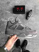 Кроссовки баскетбольные Air Jordan 4 Retro Kaws Cool Grey White, найк джордан
