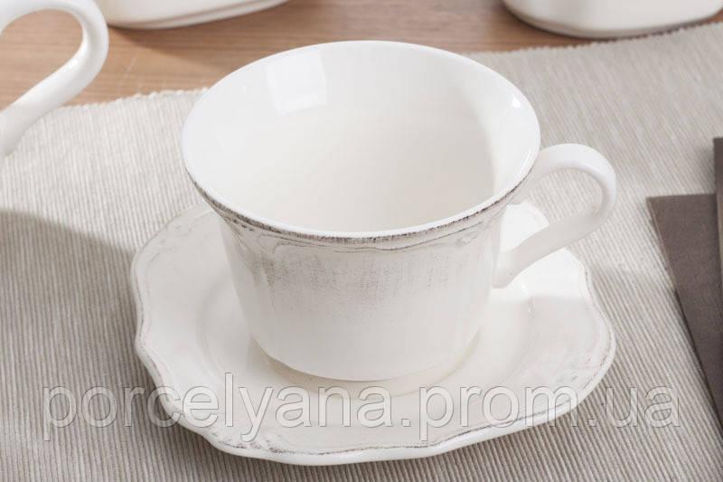 Чашка с блюдцем керамическая Роман 300мл