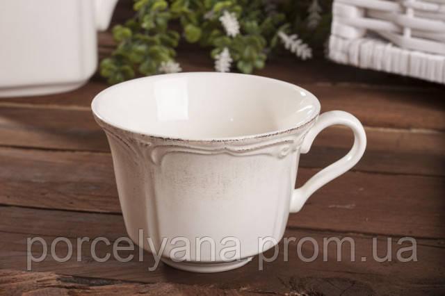 Чашка с блюдцем керамическая