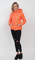 Осенняя куртка теплая пуховик оранжевый