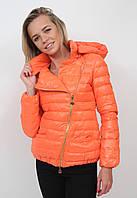 Осенняя куртка пуховик Moncler оранжевая