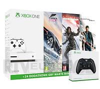 Xbox One S 500GB + 3 gry + 2 pady + XBL 6 m-ce