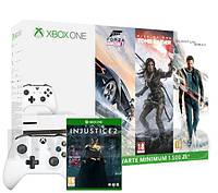 Xbox One S 500GB + 4 gry + 2 pady + XBL 6 m-ce