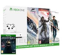 Xbox One S 500GB + 4 gry + XBL 6 m-ce