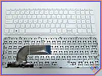 Клавиатура для ноутбука HP Pavilion 15 15-E, 15E, 15-N, 15N Series, HP 250 G3 255 G3 256 G3 ( RU White с рамкой). Оригинальная клавиатура.
