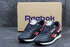 Мужские кроссовки Reebok кожаные,синие, фото 2