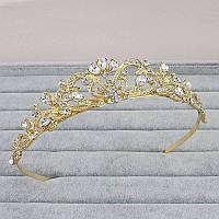 Детская корона, диадема, тиара под золото, высота 3,5 см.