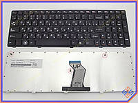 Клавиатура для ноутбука LENOVO IdeaPad G570 ( RU Black,  Черная рамка ). OEM
