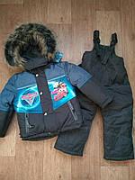 Зимний комбинезон на мальчика Тачки 18-20 размер