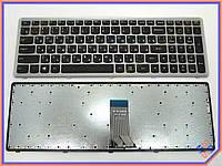 Клавиатура для ноутбука LENOVO IdeaPad U510 Z710 ( RU Black Silver frame). Оригинальная клавиатура. Русская раскладка.