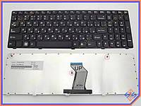 Клавиатура для ноутбука LENOVO IdeaPad Z560, Z565, G570, G575 ( RU Black,  Черная рамка ). OEM